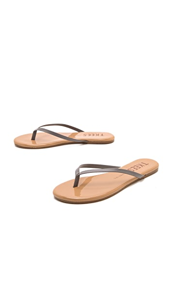 TKEES Colored Tips Flip Flops