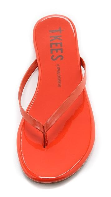 TKEES Lip Glosses Flip Flops