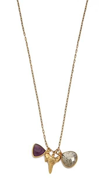 T. Kilburn Shark Tooth Cluster Necklace