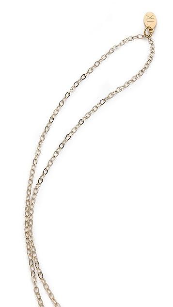 T. Kilburn Crystal Howlite Cluster Necklace