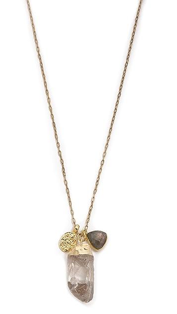 T. Kilburn Large Crystal Cluster Necklace