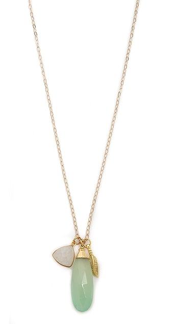 T. Kilburn Jade Drop Cluster Necklace