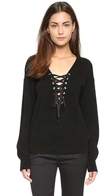6867bd7b62 The Kooples Lace Up Sweater ...