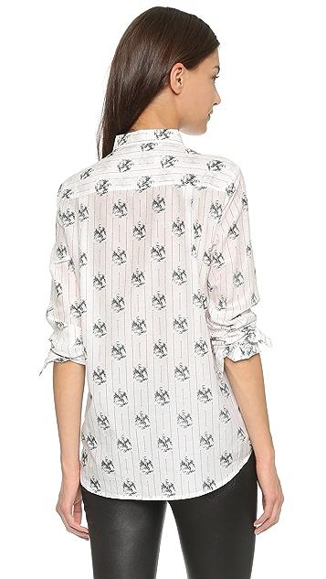 The Kooples Eagle Print Shirt