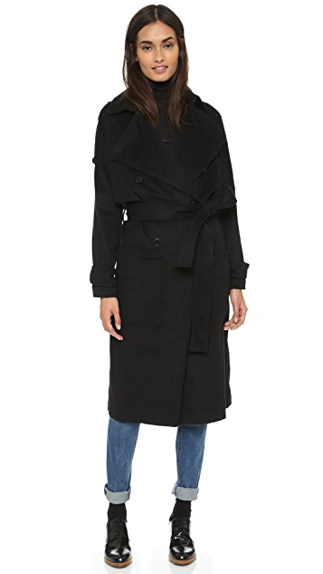 ddbc9b09fa6 The Kooples Flowing Belted Trench Coat | SHOPBOP