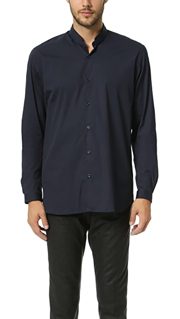 The Kooples Stand Collar Stretch Shirt