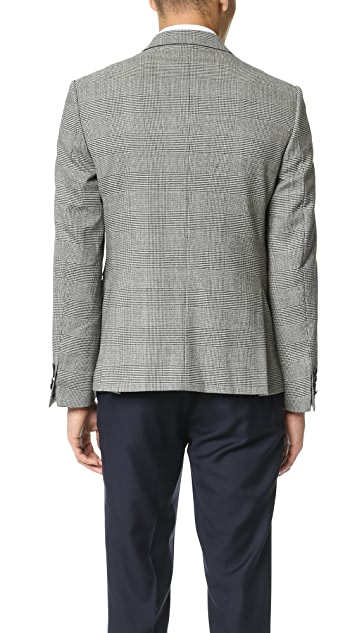 The Kooples Double Breasted Prince of Wales Check Jacket