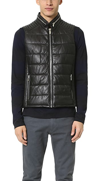 The Kooples Sport Smooth Leather Vest