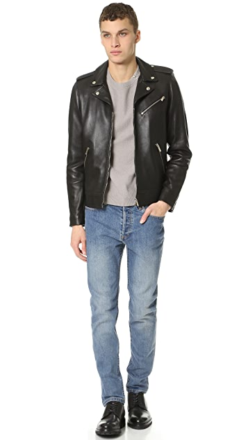 The Kooples Thick Lamb Leather Jacket