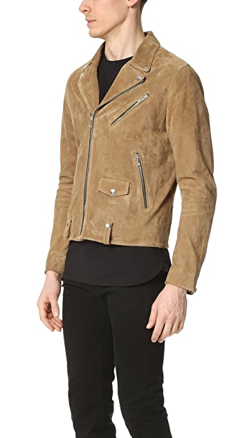 The Kooples Suede Moto Jacket
