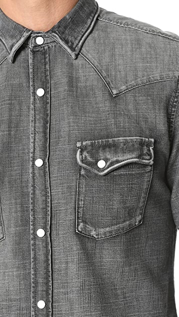 The Kooples Used Effect Denim Shirt