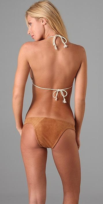 Tigerlily Aella Suede Bikini