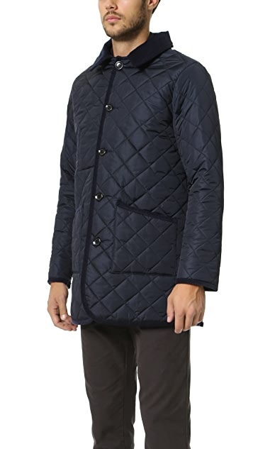 Traditional Weatherwear by Mackintosh Waverly Long Nylon Quilted Coat
