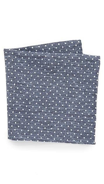 Thomas Mason Polka Dot Pocket Square