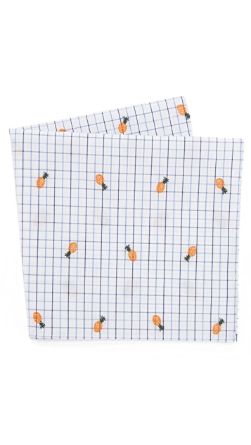 Thomas Mason Pineapple Pocket Square