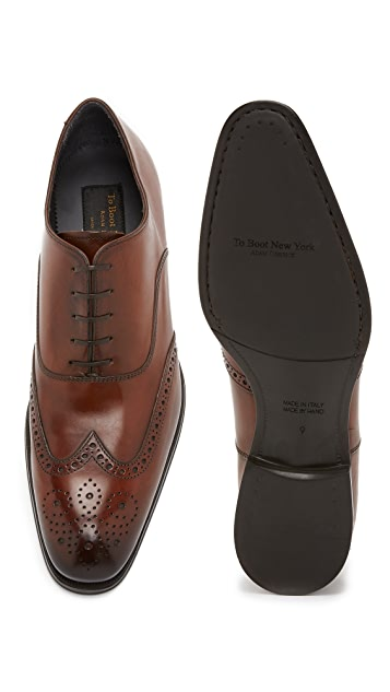 To Boot New York Dodd Burnished Leather Wingtips