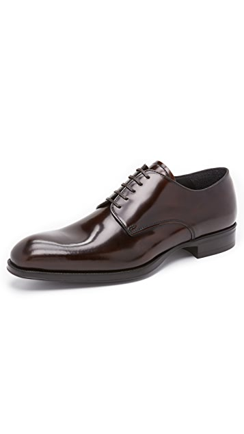 To Boot New York Buchanan High Shine Plain Toe Derbies