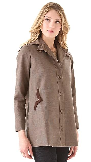 Tocca Gilbert Hooded Plaid Coat