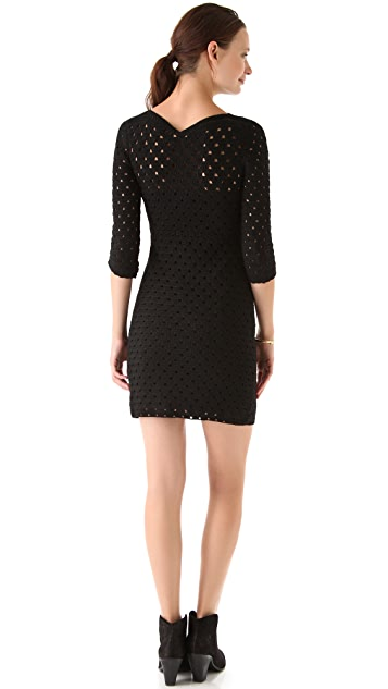 Tocca Bianca Crochet Dress