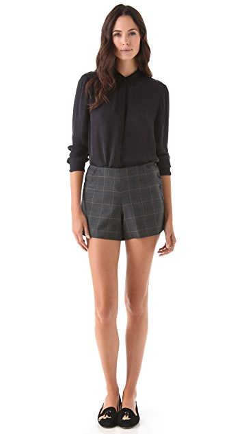 Tocca Leah Plaid Shorts