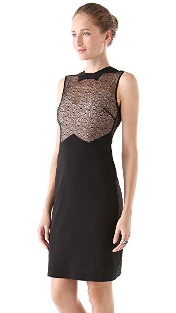 Tocca Star Lace Panel Dress