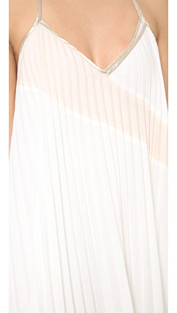 Tocca Swan Pleated Dress