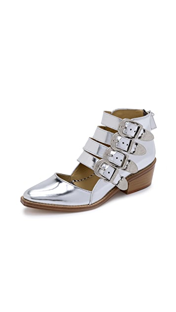 Toga Pulla Cutout Buckle-Accented Booties supply 0dNxvBI