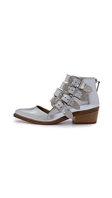 Toga Pulla Cutout Buckle Booties
