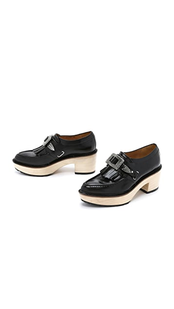 Toga Pulla Leather Platform Loafers free shipping 100% original m5m3ychV