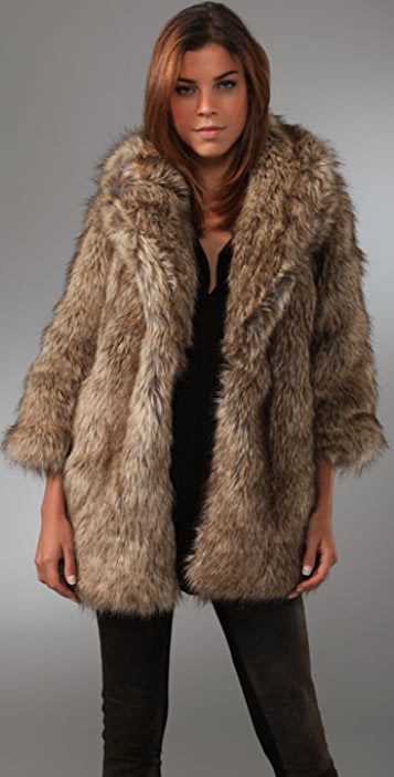 Burning Torch Faux Fur Jacket