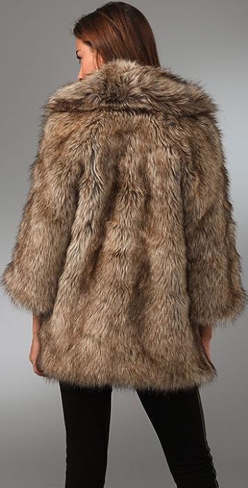 Burning Torch Faux Fur Jacket