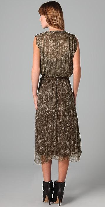 Burning Torch Texture Grid Dress