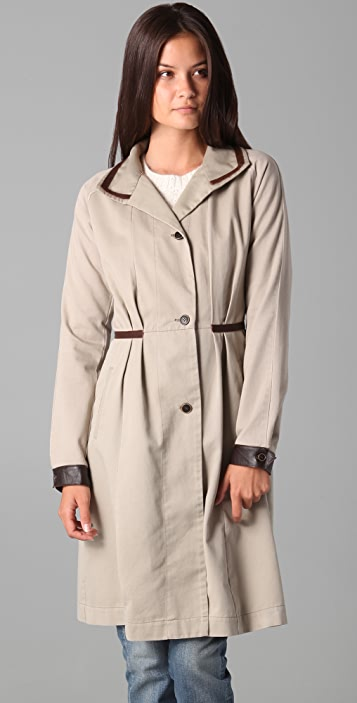 Burning Torch Recycled Khaki Trench Coat