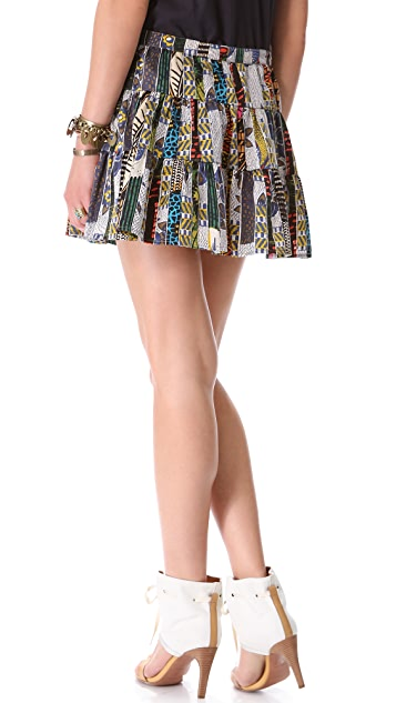Burning Torch Ashanti Tiered Skirt