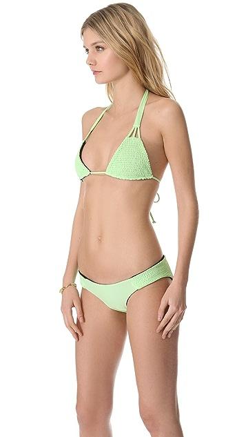 Tori Praver Swimwear Daisy Reversible Bikini Top