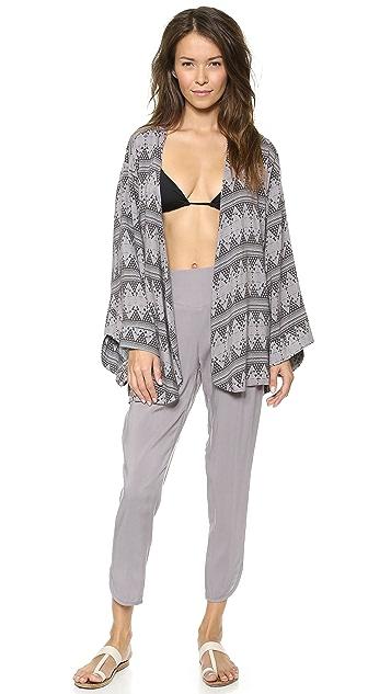 Tori Praver Swimwear Zanja Kimono Cover Up