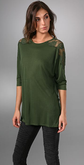 Torn by Ronny Kobo Bella Lace Top