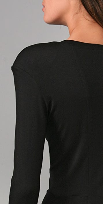 Torn by Ronny Kobo Jayne Long Sleeve T-Shirt with Shoulder Pads