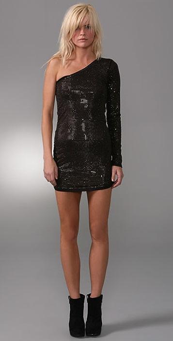 Torn by Ronny Kobo Olivia Crystal Mini Dress