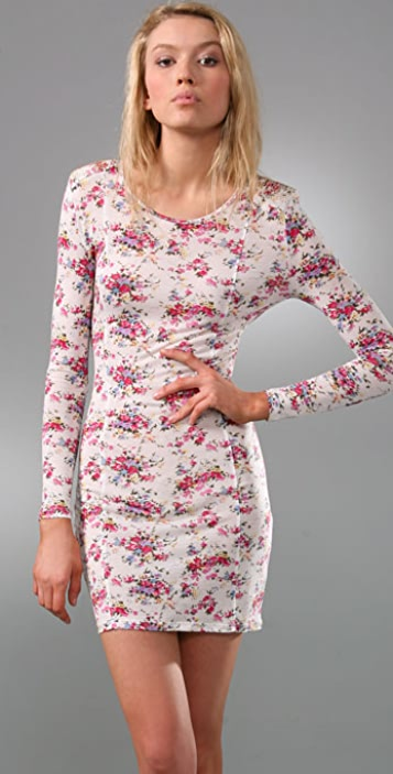 Torn by Ronny Kobo Rebecca Studded Bouquet Floral Dress