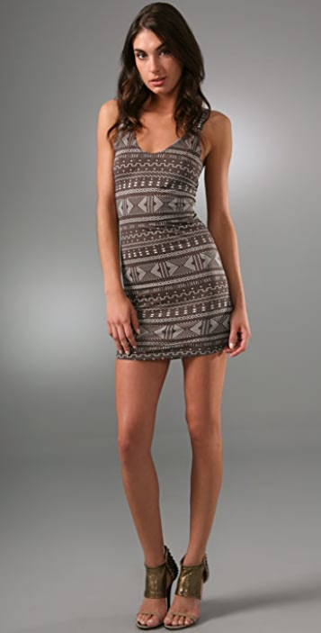 Torn by Ronny Kobo Vanessa Gia Mini Dress