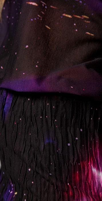 Torn by Ronny Kobo Luca Space Print Dress