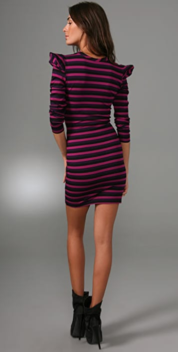 Torn by Ronny Kobo Charlotte Striped Dress