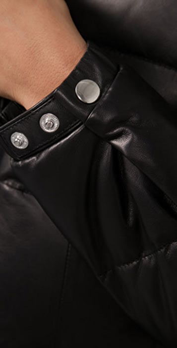 Torn by Ronny Kobo Ruthie Bubble Leather Jacket