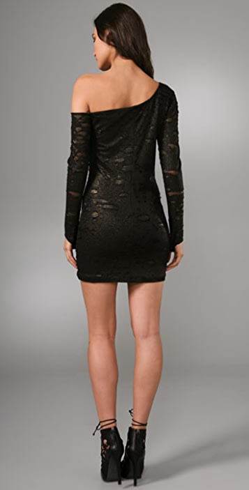 Torn by Ronny Kobo Casey Shadow Holes Dress