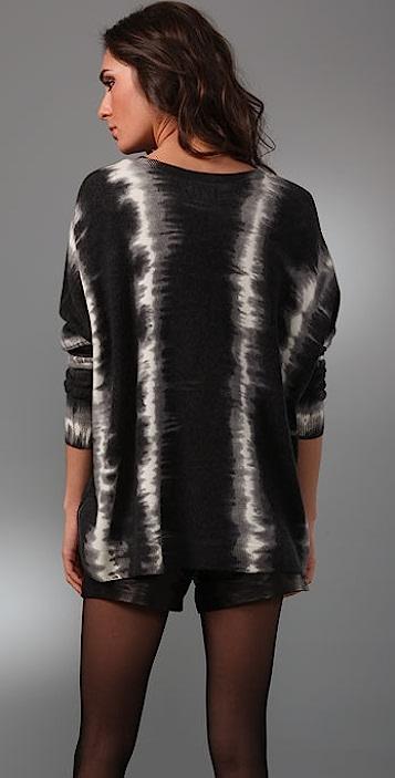 Torn by Ronny Kobo Kelly Dyed Stripe Sweater