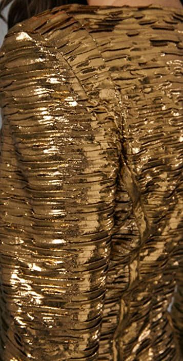 Torn by Ronny Kobo Bella Pleated Metallic Dress