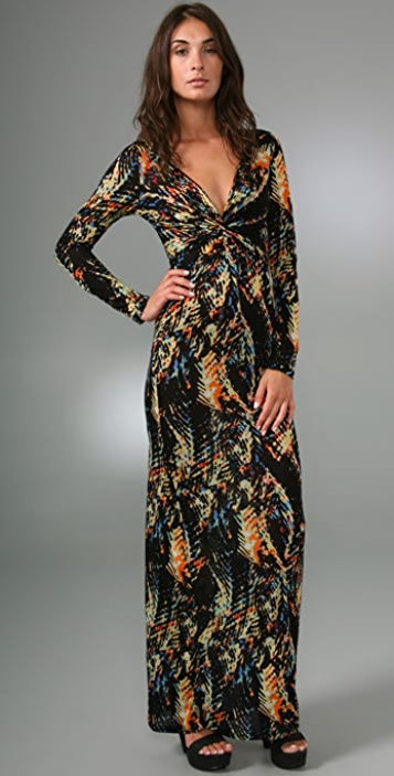 Torn by Ronny Kobo Vanessa Twist Cosmic Long Dress