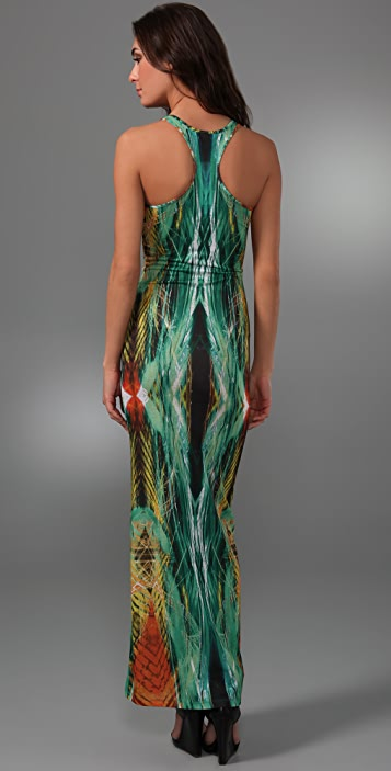 Torn by Ronny Kobo Adrianne Laser Brush Long Dress