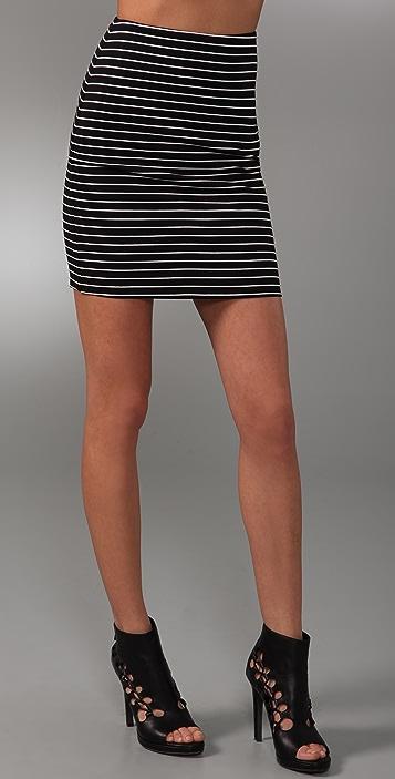 Torn by Ronny Kobo Astrid Striped Miniskirt